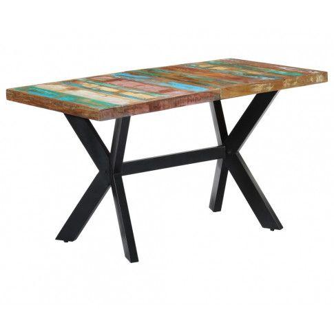 Zdjęcie produktu Wielokolorowy stół z drewna odzyskanego – Kalis 3X .