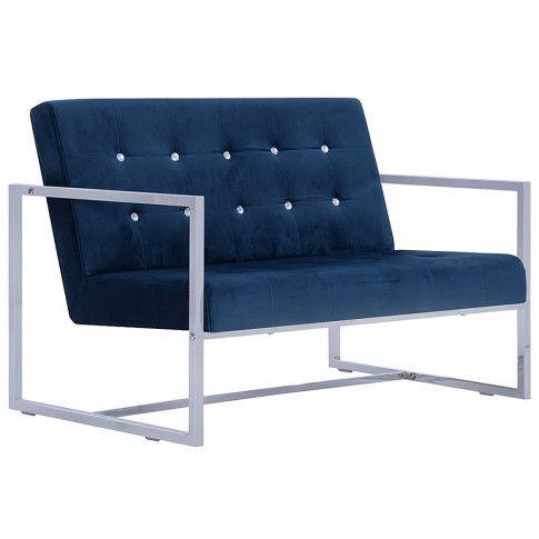 Zdjęcie produktu Zgrabna 2-osobowa sofa Mefir - niebieska.