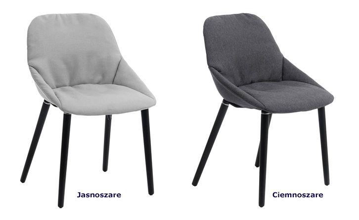Nowoczesne krzesła Fabien - miękkie
