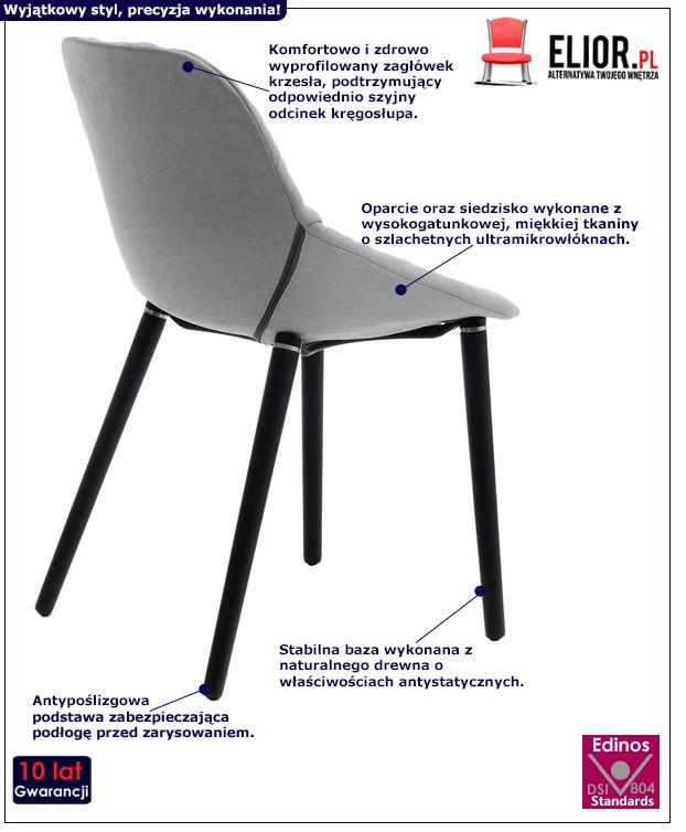 Miękkie krzesło Fabien - jasnoszare