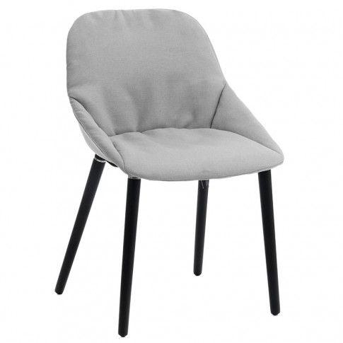 Zdjęcie produktu Miękkie krzesło Fabien - jasnoszare.