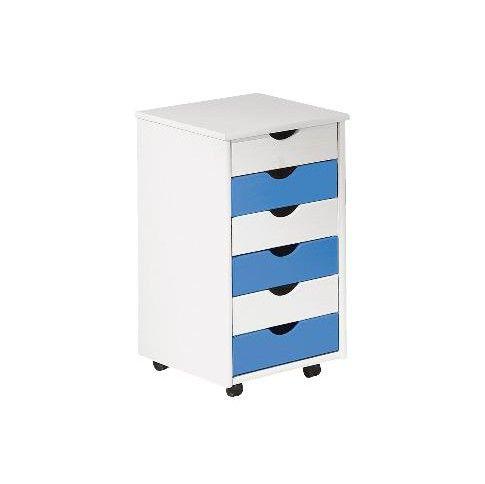 Zdjęcie produktu Kontenerek do biurka Delis - niebieski.