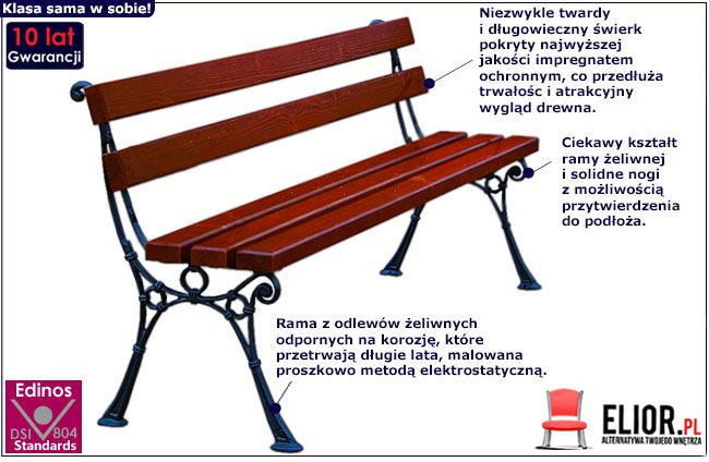 ławka parkowa ogrodowa Venezia