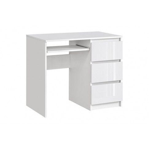 Zdjęcie produktu Nowoczesne biurko Luvio 2X - biały połysk.