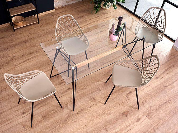Nowoczesne krzesło druciane do salonu Inder