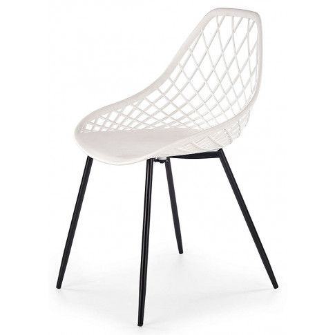 Zdjęcie produktu Druciane krzesło ażurowe Inder - białe.