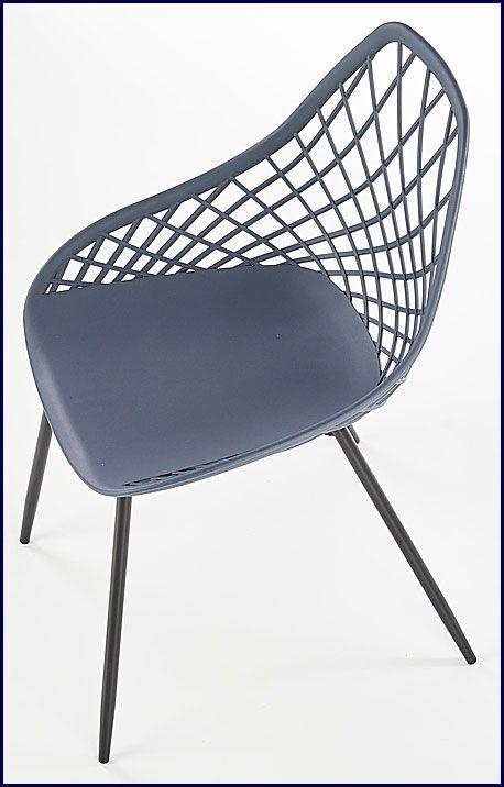 Popielate krzesło do jadalni, salonu Inder
