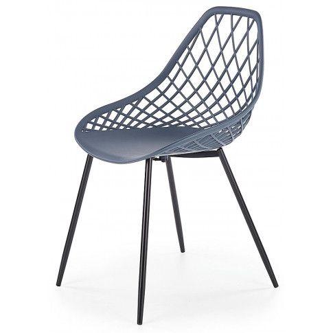 Zdjęcie produktu Krzesło druciane Inder - ciemny popiel.