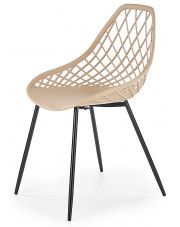 Druciane krzesło minimalistyczne Inder - beżowe