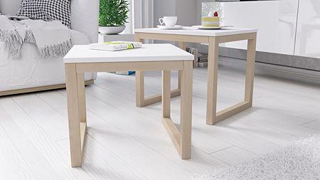 Modne stoliki  Ingri - białe