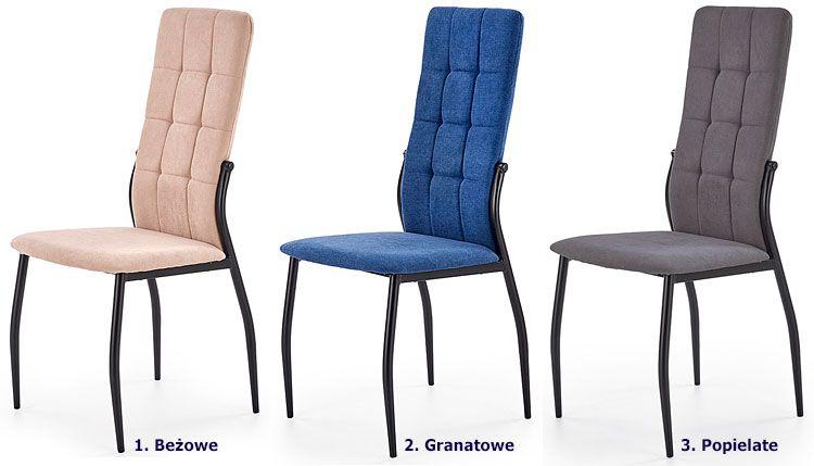 Pikowane krzesło w minimalistycznym stylu Holden