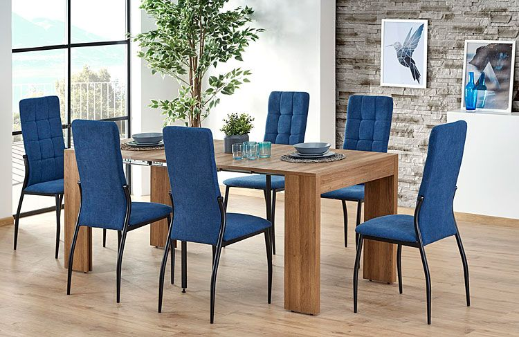 Pikowane krzesło tapicerowane Holden