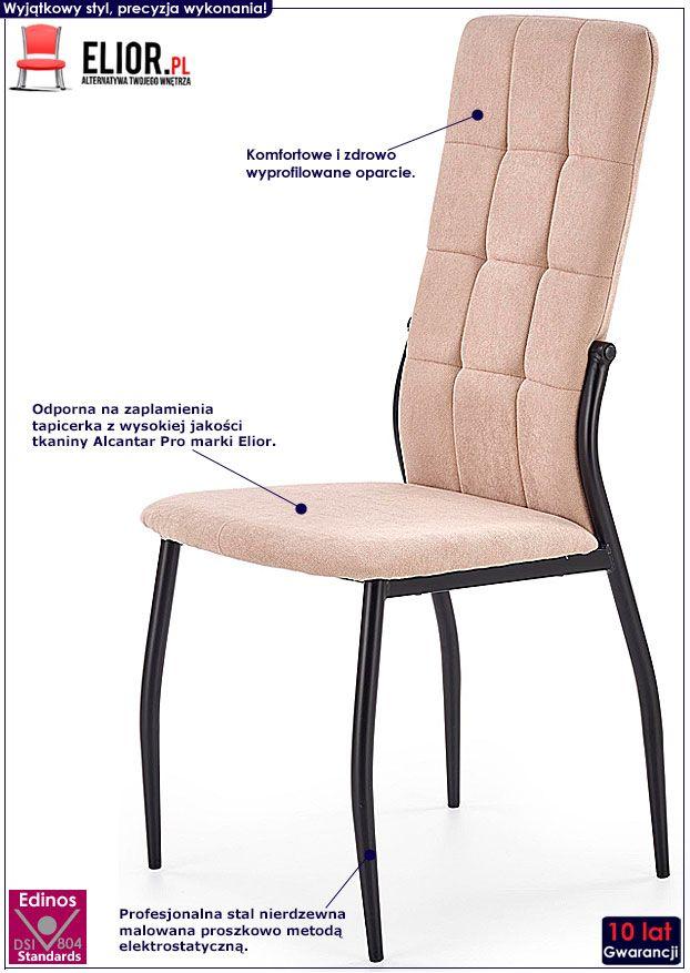 Beżowe krzesło tapicerowane Holden
