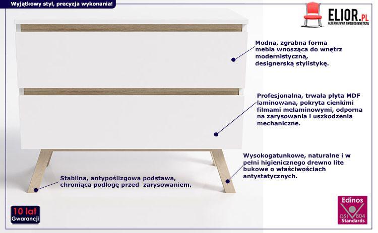Praktyczna komoda Egna 2X - biała