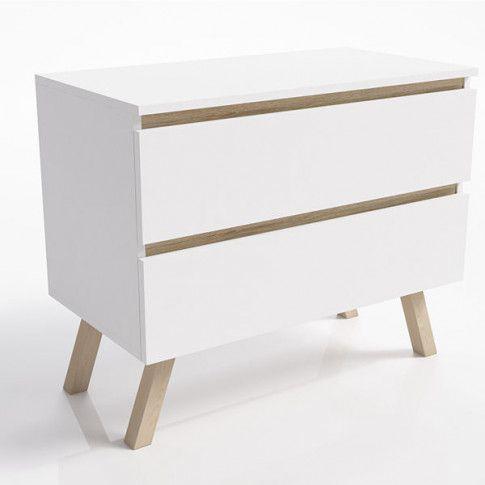 Zdjęcie produktu Skandynawska komoda Egna 2X - biała.