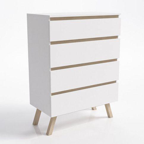 Zdjęcie produktu Skandynawska komoda Egna 4X - biała.
