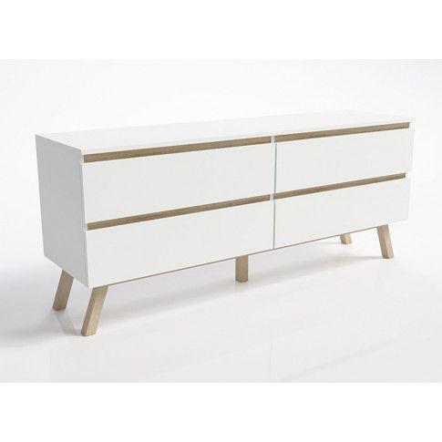Zdjęcie produktu Skandynawska komoda Enna 2X - biała.