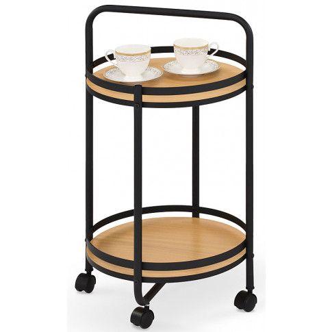 Zdjęcie produktu Okrągły stolik barowy Ivor - naturalny.