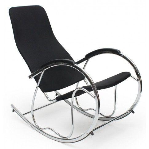 Zdjęcie produktu Bujany fotel do salonu Belix - czarny.