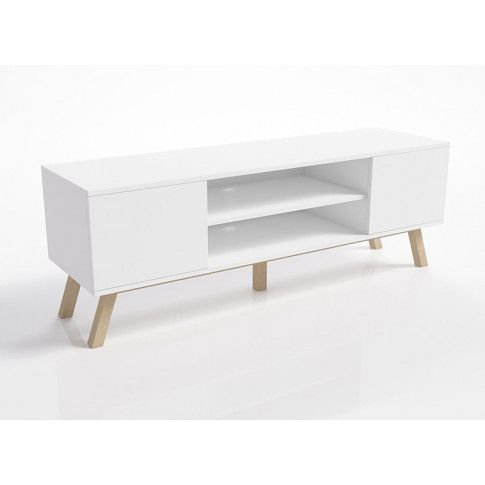 Zdjęcie produktu Skandynawska szafka rtv Ukla - biała.