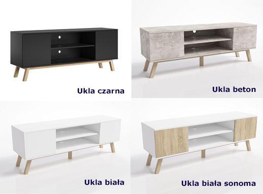 Praktyczne szafki RTV Ukla - bukowe