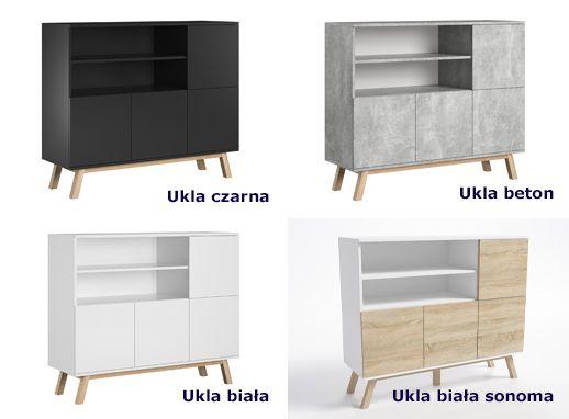 Designerskie komody Ukla - praktyczne