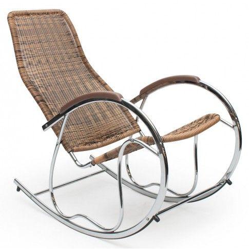 Zdjęcie produktu Fotel bujany Belix - brązowy.