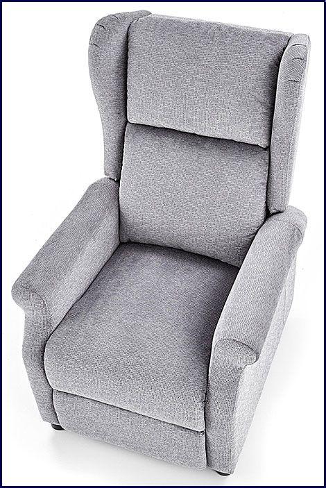 Szary fotel wypoczynkowy do salonu, sypialni Alden