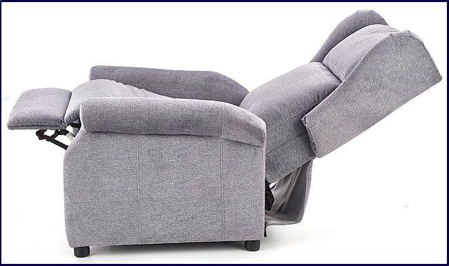 Popielaty rozkładany fotel do leżenia, oglądania tv Alden