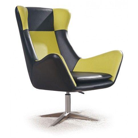 Zdjęcie produktu Fotel wypoczynkowy Alexin - czarno-zielony.