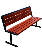 Nowoczesna ławka parkowa Kalipso 2X 150 cm - 84 kolory