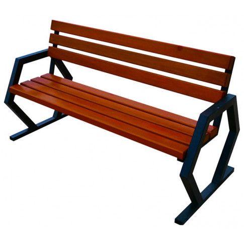 Zdjęcie produktu Nowoczesna ławka parkowa Flamenco 150 cm - 84 kolory.