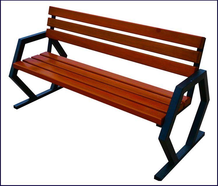 ławka drewniana parkowa Flamenco