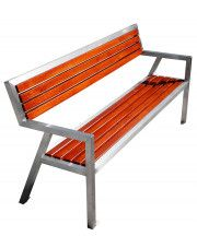 Nowoczesna ławka parkowa Atena 150 cm - 84 kolory