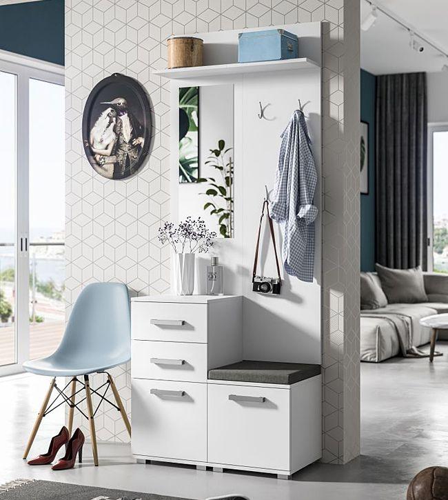 Praktyczna garderoba Dimmi - biała