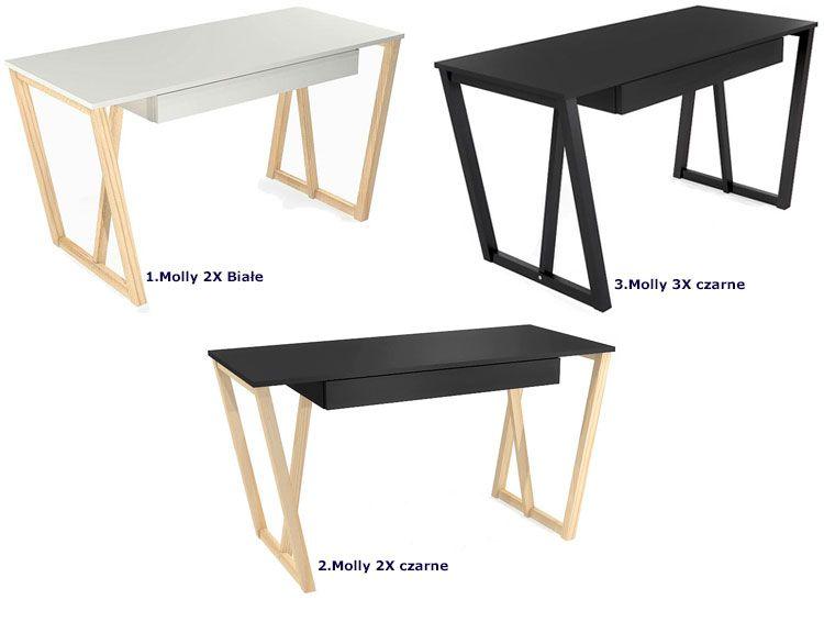 nowoczesne minimalistyczne biurko skandynawskie