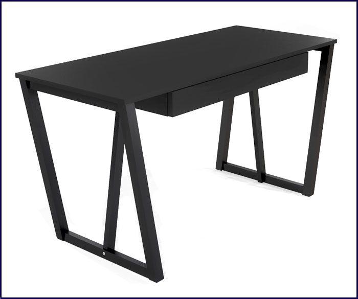 nowoczesne czarne biurko