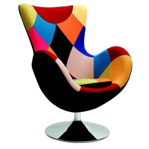 Zdjęcie produktu Obrotowy fotel uszak wypoczynkowy Zoltis - patchwork.