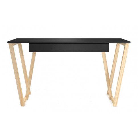 Zdjęcie produktu Czarne biurko młodzieżowe Molly 2X.
