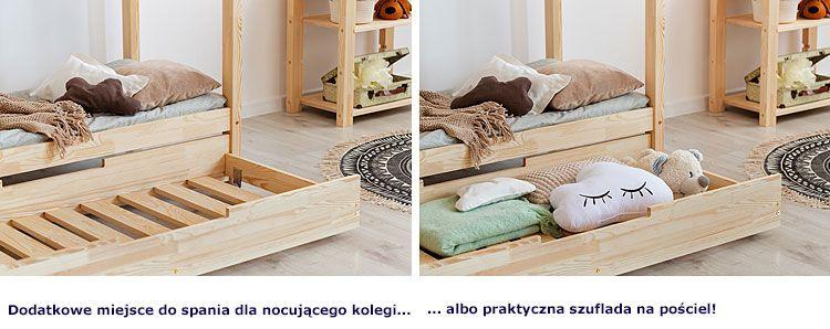 Łóżko domek z szufladą na pościel lub materac Miles 14X