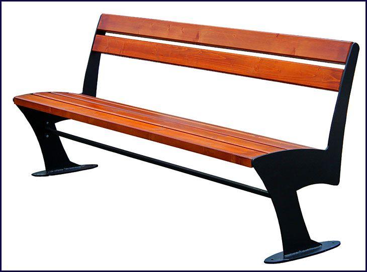 ławka drewniana parkowa Zoio 2x