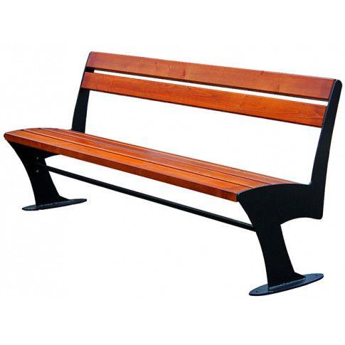 Zdjęcie produktu Stalowa ławka parkowa Zoio 2X 180 cm - 84 kolory.