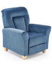 Rozkładany fotel wypoczynkowy Ervin - niebieski