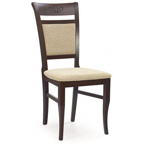 Zdjęcie produktu Stylowe krzesło drewniane Alvin - ciemny orzech.