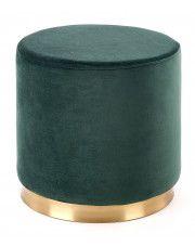 Okrągła pufa Lexti - zielona