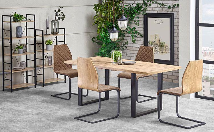 Drewniany stół w stylu loftowym Lucy