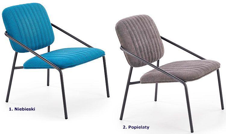 Industrialny fotel wypoczynkowy do salonu, loftu Venser