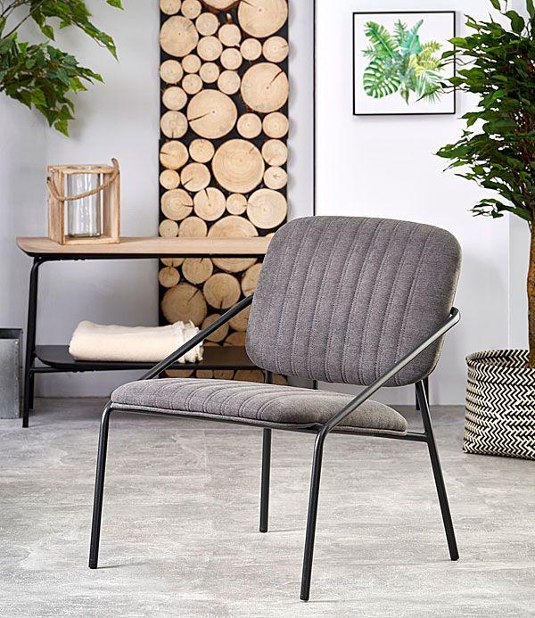 Szary fotel wypoczynkowy do oglądania tv Venser