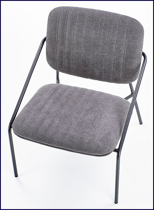 Szary fotel wypoczynkowy do czytania Venser
