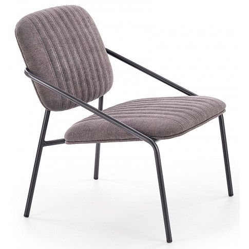 Zdjęcie produktu Loftowy fotel wypoczynkowy Venser - popielaty.